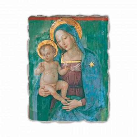"""Freski od Pinturicchio """"Matka Boska z Dzieciątkiem"""" wykonane we Włoszech"""