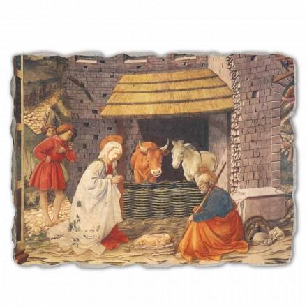 """Freski wykonane ręcznie Filippo Lippi """"Narodzenie"""" - duże"""