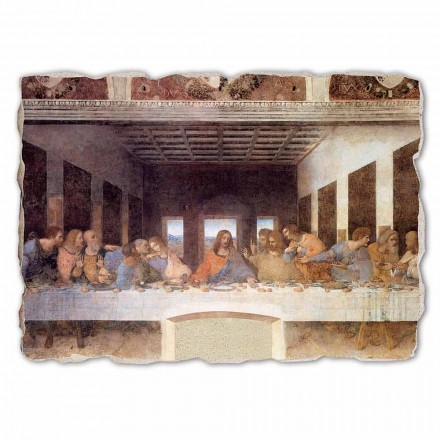 """Leonardo Da Vinci """"Ostatnia Wieczerza"""" freski wykonane we włoszech duże"""