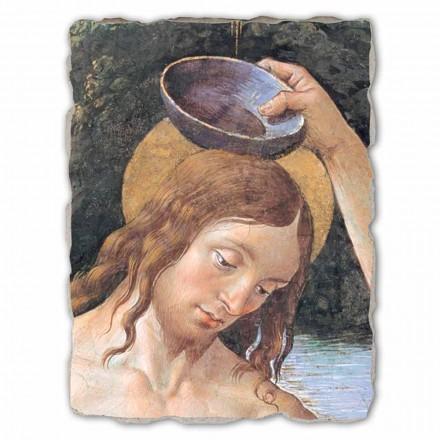 """Freski Perugino """"Chrzest Chrystusa"""" duże ręcznie wykonane"""