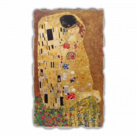 """Gustav Klimt """" Pocałunek"""" reprodukcja freski ręcznie wykonana - duże"""