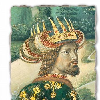 """Duża fresco Gozzoli Procesja Trzech Króli z królem Melchior """""""