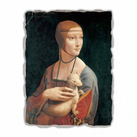 """Leonardo da Vinci """"Dama z łasiczką"""" freski wykonane we włoszech-duże"""
