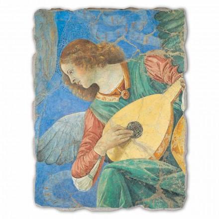 """Freski ręcznie wykonane duże - Melozzo da Forlì """"Anielski Muzyk"""""""