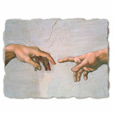 """Michał Anioł """"Stworzenie Adama"""", freski ręcznie wykonane duże - szczegół"""
