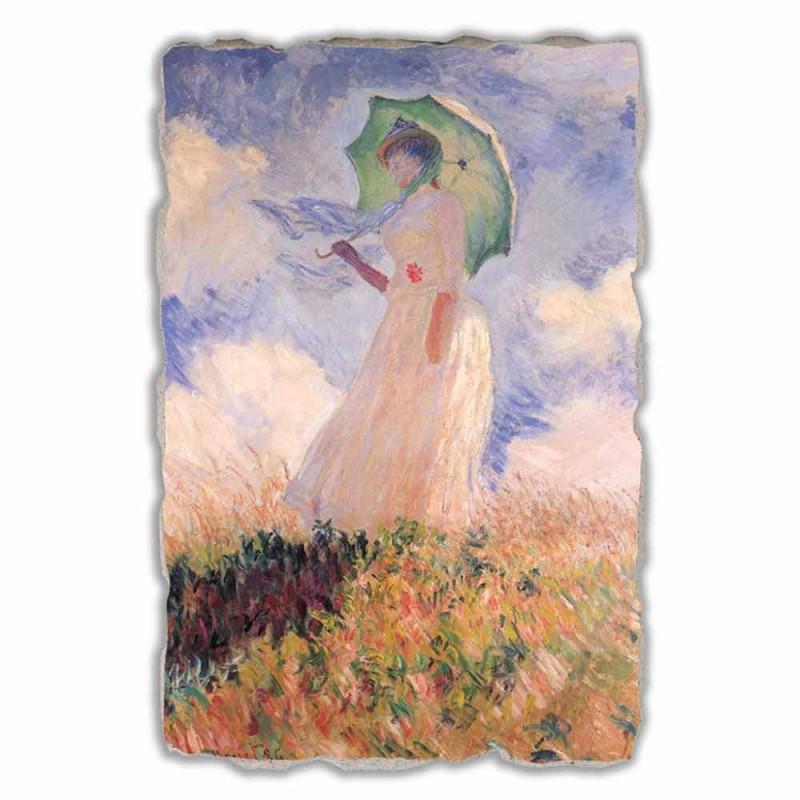 """duży fresk Monet """"Kobieta z parasolem odwrócił się w lewo"""""""
