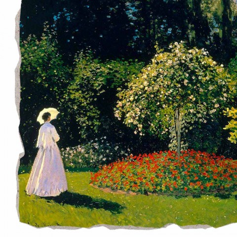 """duży fresk Monet """"Lady w ogrodzie w Sainte-Adresse"""""""