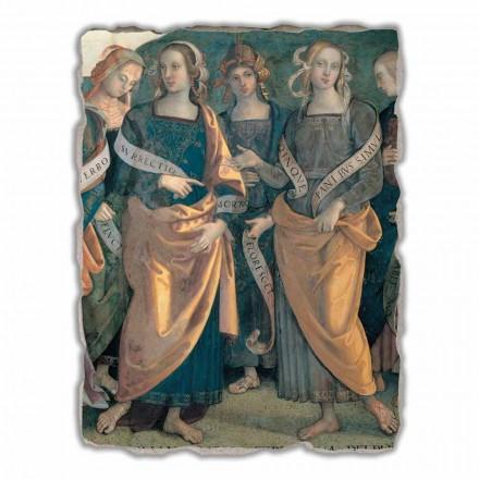 "Perugino ""Eterno tra Angeli, Profeti e Sibille"" freski wykonane ręcznie"