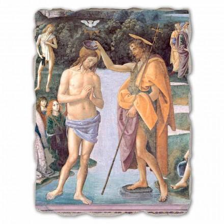 """Freski reprodukcja Perugino """"Chrzest Chrystusa"""" duże"""