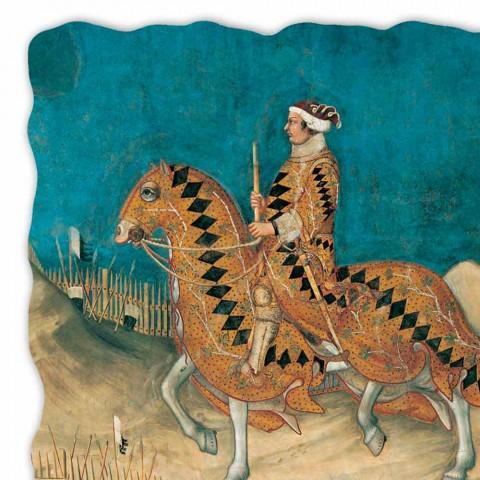 "duży fresk Simone Martini ""Guidoriccio od Fogliano"""