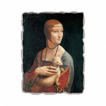 """Leonardo da Vinci """"Dama z łasiczką"""" freski wykonane we włoszech"""