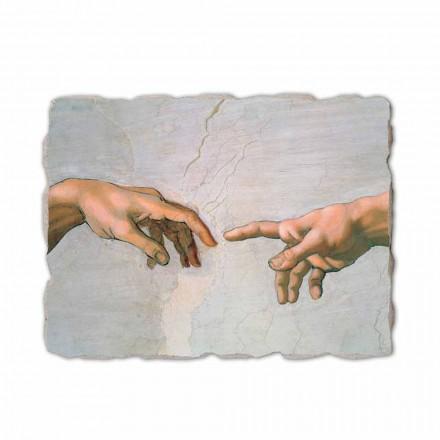 """Michał Anioł """"Stworzenie Adama"""", freski ręcznie wykonane - szczegół"""