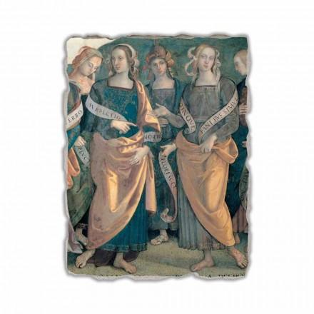 """Perugino """"Eterno tra Angeli, Profeti e Sibille"""" freski - szczegół"""