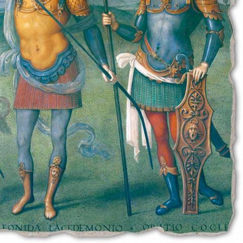 """Perugino fresco """"The Fortress, Temperance i sześciu bohaterów starożytności"""""""