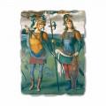 """Freski Perugino """"La Fortezza, la Temperanza e sei Eroi dell'Antichità"""""""