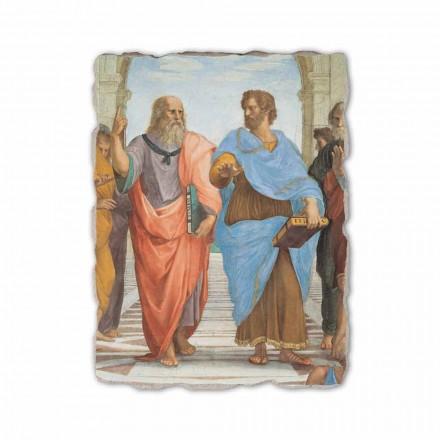"""Raffaello Sanzio freski """"Szkoła Ateńska"""" szcze. Platon i Arystoteles"""