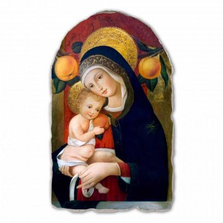 """Freski Carlo Crivelli """" Matka Boska z Dzieciątkiem """"  XV wiek"""