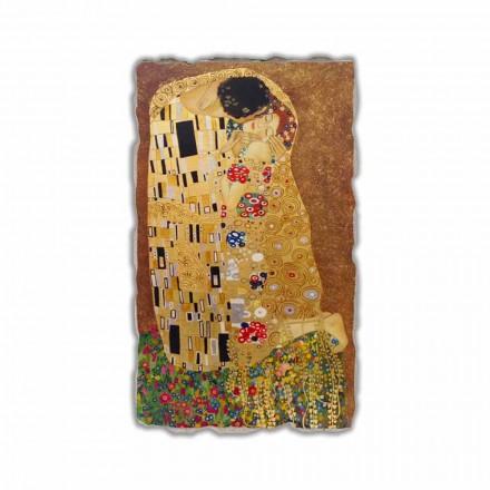 """Gustav Klimt """" Pocałunek"""" reprodukcja freski ręcznie wykonana"""