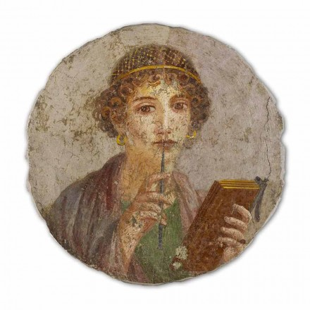 """Freski Arte Romana """"La Poetessa"""" - duże, wykonane ręcznie"""