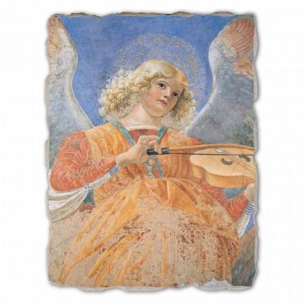 """Rekrodukcja freski duże Melozzo da Forlì  """"Anielski Muzyk"""""""