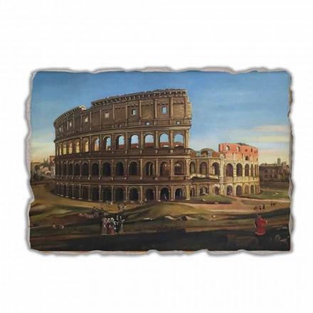 """Vanvitelli """"Widok Koloseum"""" - freski wykonane ręcznie"""