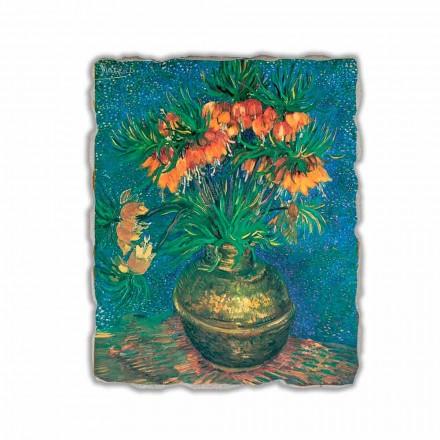 """Vincent Van Gogh """" Szachownica w miedzianym wazonie"""" freski"""