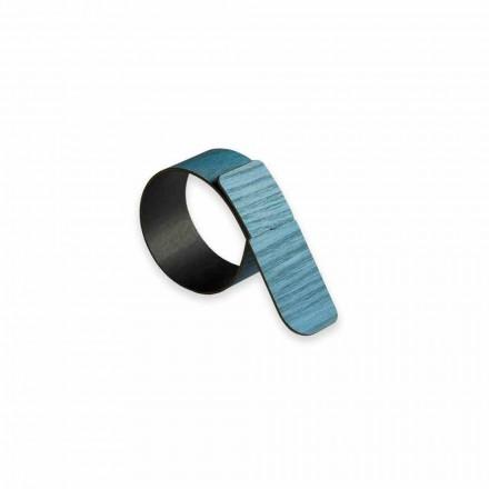 12 designerskich pierścieni na serwetki z drewna i tkaniny wyprodukowanych we Włoszech - Abraham