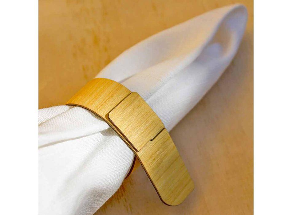 Drewniany pierścień na serwetki o nowoczesnym designie Made in Italy - Stan