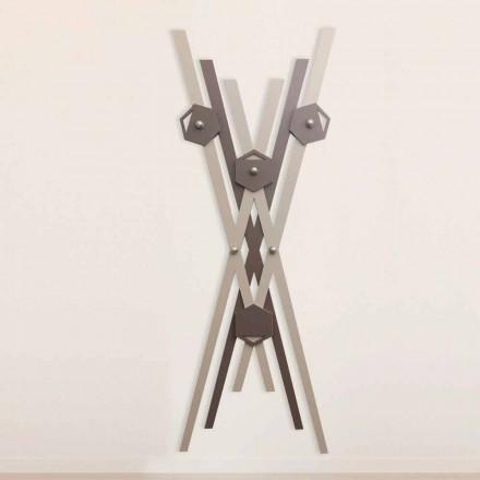 Wieszak ścienny Nowoczesny Design Kolorowe Drewno na Wejście - Picasso