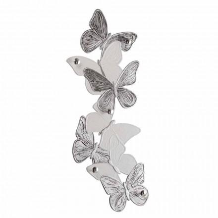 Wieszak ścienny wykonany ręcznie z motyli, wyprodukowany we Włoszech