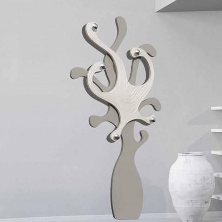 Wieszak design na ścianę efekt masy perłowej, model Corey