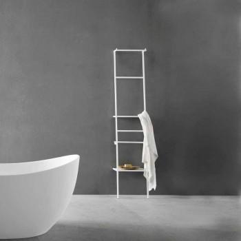 Biały lub Kolorowy Wieszak Drabinkowy Nowoczesny Design - Caloina