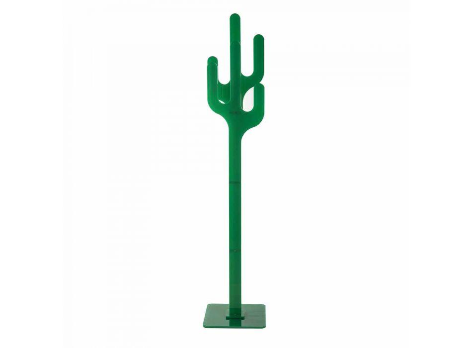 Cactus zielony nowoczesny design wieszak, wykonane we Włoszech
