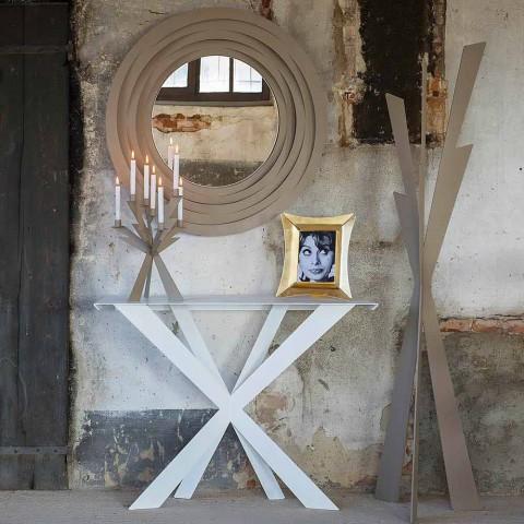 Nowoczesny wieszak z kolorowego żelaza Made in Italy - Zecchina