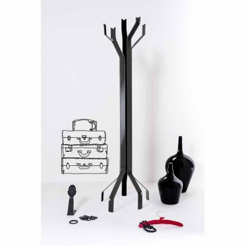Czarny wieszak z 5 haczykami Andrea, nowoczesny design