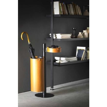 Wieszak skórzany o nowoczesnym designie Made in Italy - Adelfo