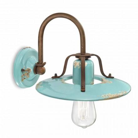 Lampa ścienna z metalu i ceramiki Gladys Ferroluce