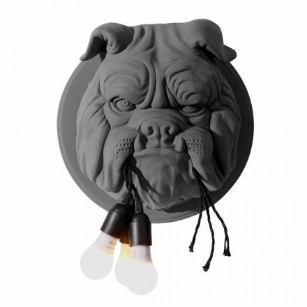 Kinkiet ścienny z 3 lampkami w szarym lub białym ceramicznym nowoczesnym designie - Dogbull