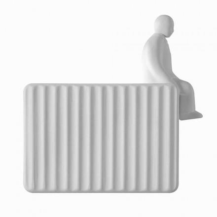 Kinkiet ścienny z 3 diodami LED w matowej białej ceramice z Umarell - Ometto