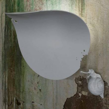 Designerski kinkiet ścienny z białej ceramiki i ślimaka - dekoracja ślimaka