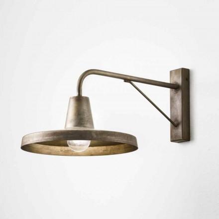 Lampa ścienna design z antycznego żelaza Sally Il Fanale