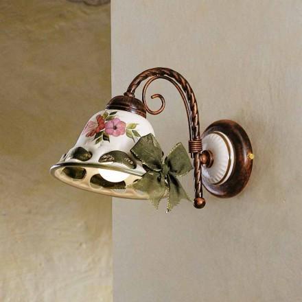 Kinkiet ceramiczny rustykalny Ferroluce