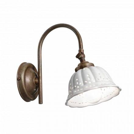 Lampa ścienna półogrągła Anita Il Fanale, w stylu liberty