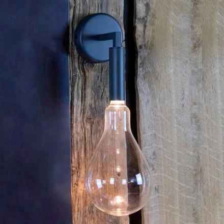 Kinkiet zewnętrzny z żelaza i aluminium z diodą LED w zestawie Made in Italy - Luccico