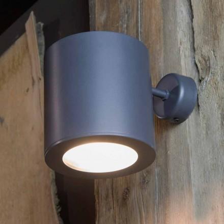 Kinkiet zewnętrzny z żelaza i aluminium z diodą LED w zestawie Made in Italy - Rango