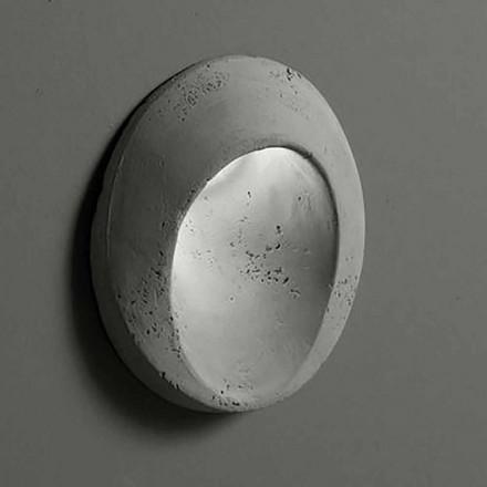 Owalny kinkiet zewnętrzny w kolorowej glinie Oval - Toscot