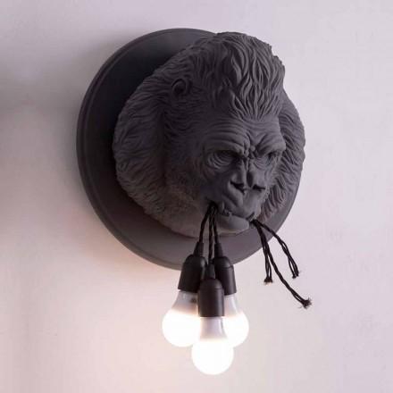 Kinkiet na 3 światła w kolorze Gorilla Ceramic Grey lub White Design - Rillago
