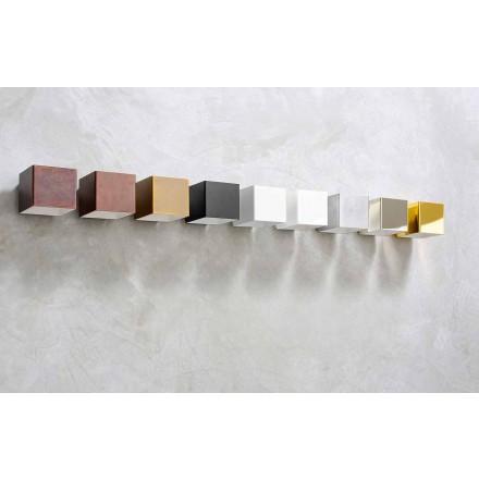 Kinkiet LED z mosiądzu i gipsu Made in Italy - Cubetto Aldo Bernardi