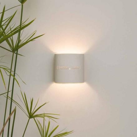 Nowoczesna dwukolorowa nebulitowa lampa ścienna In-es.artdesign Punto Luce design