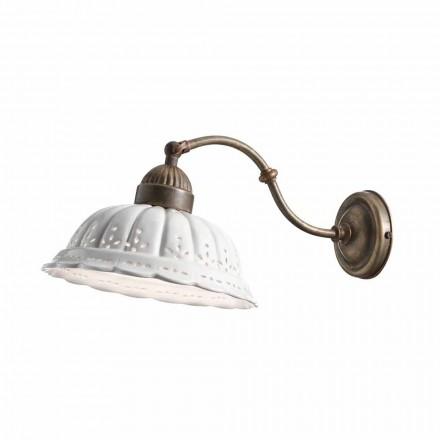 Lampa ścienna w stylu liberty z ceramiki Bassano Anita od Il Fanale